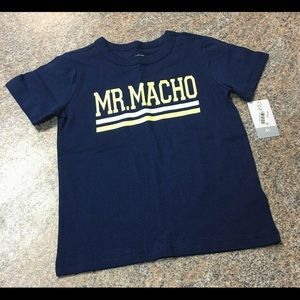 Carter's navy yellow Mr. Macho T sz 4t NWT
